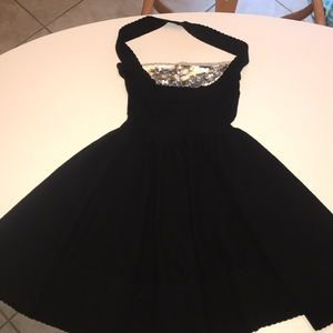 Marc By Marc Jacobs black & sequined halter dress